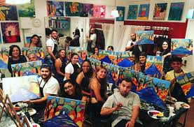 byob painting at paint and sip studio ny