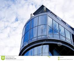 Curved Architecture Modern Architect Curved Glass Wall Facade Stock Photo Image