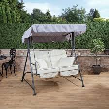 garden swing seat cushions uk. mosca 2 seater swing seat - charcoal frame with luxury cushions garden uk o