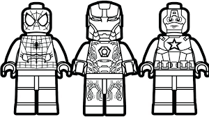 Lego Superhero Coloring Pages Avengers Lego Batman Villain Coloring