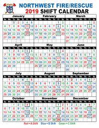 Firefighters Shift Calendar 2020 Shift Schedules Northwest Fire District