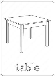 printable table coloring pages book pdf