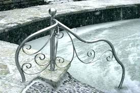 pool stair rail pool handrails swimming pool stair rails stainless steel handrail for pools moon branches by martin design above ground pool ladder rails