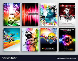 Flyer Poster Templates Set Of Club Flyer Design Party Poster Templates
