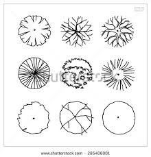 Small Picture stock vector set of tree plan symbols for use in architectural