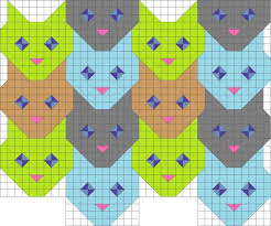 Tessellating cat face quilt pattern. | Quilting | Pinterest | Cat ... & Tessellating cat face quilt pattern. Adamdwight.com