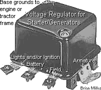 electrical solutions for small engines and garden pulling tractors new 12 volt 15 amp voltage regulator for starter generators if the charging system continues to charge no gradual falling back reading on the amp