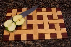 3d end grain cutting board plans. basket weave cutting board with apples and knife 3d end grain plans