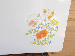 corning ware wild flowers portable counter saver cutting board corningware wild flowers large corning ware counter saver 14 x 20
