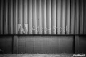 black and white corrugated metal sheet wall