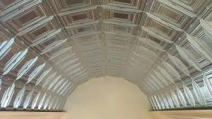 corrugated metal ceiling panels tiles ideas salvaged ft reclaimed tin roofing