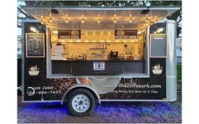 The mobile coffee cart is a small and portable coffee shop selling coffee on the street, you can easily set up a commercial coffee cart business with a coffee bike, espresso cart or coffee display stands. Stylish Mobile Coffee Trailer By The Coffee Ark Cart Cafe And Catering Llc In Boca Raton Fl Alignable
