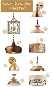 brass copper lighting via megan brooke handmade