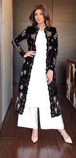 Punjabi Suit With Long Jacket Design Pintrest Dixna Deol Indian Outfits Indian Designer Wear