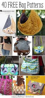 Free Bag Patterns Cool 48 More Free Bag Pattern Tutorials Andrea's Notebook