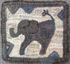 baby elephant by marijo taylor pattern only or complete rug hooking kit
