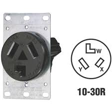 leviton 3 wire dryer power outlet r30 05207 s10 do it best leviton 3 wire dryer power outlet r30 05207 s10
