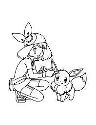 Pokemon Paradijs Kleurplaat May En Eevee