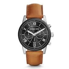 new michael kors mk8394 mens leather hawthorne watch 2 year warranty