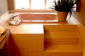 large bathroom with a jacuzzi tub required additional masking to protect the room