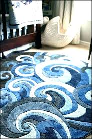 tropical rug runners nautical round coffee runner print