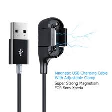 Magnetic USB Charging Cable with Auto Adjustable Clamp - Free Shipping On  Orders Over $45 - Overstock.com - 18492830