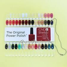 Details About Creative Cnd Shellac Salon Shades Nail Tip Color Chart Palette Colour Sample