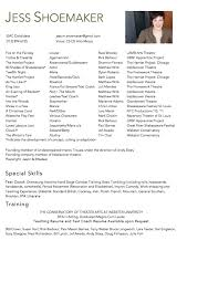 52 Acting Resume Examples Beginners Beautiful Dance Resume