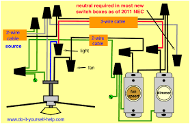 wiring diagram for a fan and light complies with nec 2016
