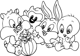 Small Picture Baby Bugs Bunny Looney Tunes Cartoon Coloring Page Wecoloringpage