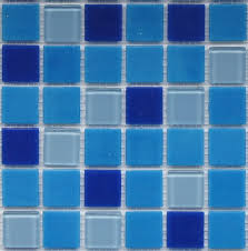 swimming pool tile blue glass tile crystal mosaic image
