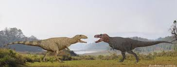 Image result for t rex vs giganotosaurus fight