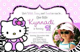 Hello Kitty Personalised Party Invitations Guluca