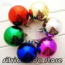 Large Plastic Christmas Bell Decorations Beauteous 32pcslot 32cm Large Shiny Multi Color Christmas Bell Balls Plastic