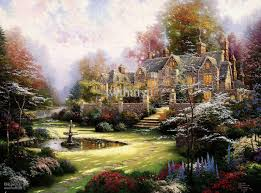 2018 thomas kinkade hot ing hd print oil painting on canvas country garden house 18x24 from wuhaisu 17 09 dhgate com