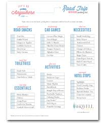Free Download Travel Packing Checklist Inkwell Press