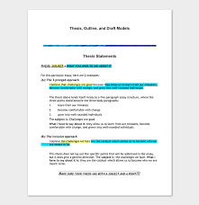 Thesis Outline Template 11 Samples Examples