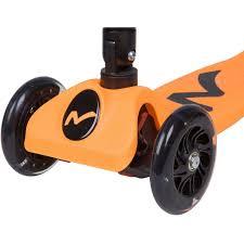 <b>Самокат</b>-<b>кикборд Novatrack RainBow</b>, складной, оранжевый 120F ...