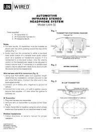unwired ir mobile stereo headphone system transmitter positioning diagram