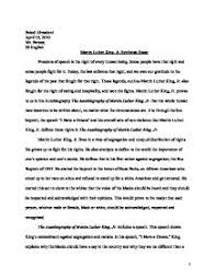 the autobiography of martin luther king jr synthesis essay  home · international baccalaureate · world literature page 1 zoom in
