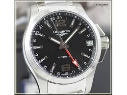 longines conquest gmt automatic steel 41 mm mens watch ref l3 longines conquest gmt automatic steel 41 mm mens watch ref l3 687 4 56 6 l3 687 4 56 6