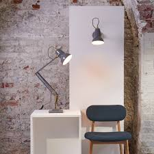 Anglepoise Original 1227 Brass Wall Light Anglepoise Original 1227 Brass Wall Lamp Elephant Grey