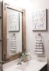 diy bathroom mirror frame without