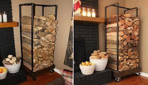 Indoor Firewood Rack Enclume Rectangular