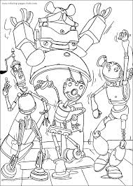 Small Picture Robots coloring pages Free printable Disney coloring sheets for kids