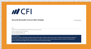Schedule Of Accounts Receivable Template Accounts Receivable Turnover Ratio Excel Template Cfi