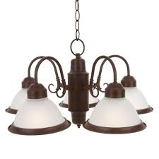 commercial electric halophane 5 light nutmeg chandelier
