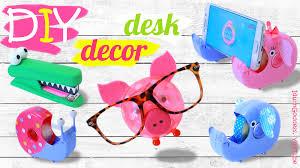 diy desk decor and organization ideas how to make cute animals desk set you
