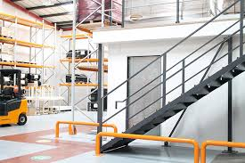 mezzanine floor office. a mezzanine floor combining both office and storage areas i