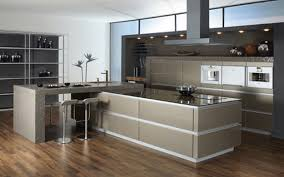 Double Oven Kitchen Design Brown Solid Cabinet Storage Wall Mounted Small Modern Kitchens